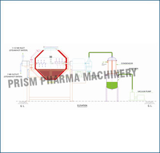 Rota Cone Vacuum Dryer Diagram