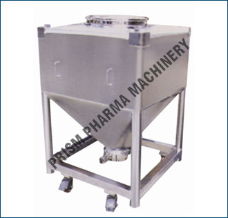 Square IBC Bin with legs